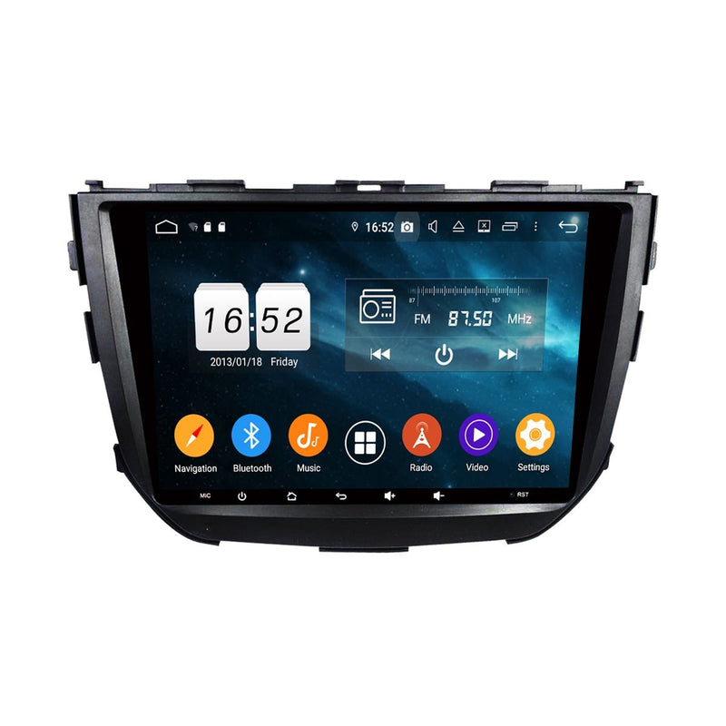 Android 9.0 Car Stereo for Suzuki Vitara Brezza(2015-2020), 9 Inch Touchscreen DSP Auto Radio GPS Navigation Bluetooth 4G WIFI, 4GB RAM+32GB ROM - foyotech