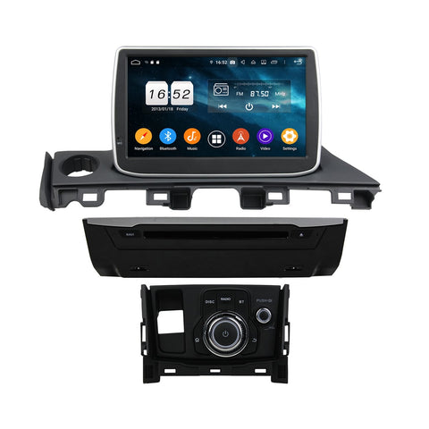8 inch Android 9.0 OS Car GPS Navigation Headunit for Mazda 6/Atenza(2017-2020), Octa Core 1.5G CPU 4G DDR3 RAM 32G Flash, Auto DVD Player Radio Stereo Bluetooth 4G WIFI OBD2 MirrorLink - foyotech