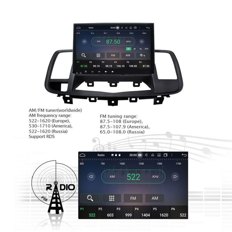 Android 10 1 Din 9 Inch 1024x600 Touchscreen Autoradio Headunit for Nissan Teana/Maxima 2008 2009 2010 2011 2012 2013, Octa Core 1.5GB CPU 32GB Flash 4GB DDR3 RAM, Auto Radio GPS Navigation 3G 4G WIFI Bluetooth USB DSP Carplay&Auto Steering Wheel Control. 1Din Vehicle Touch Screen Multimedia Video Player System Head Unit.