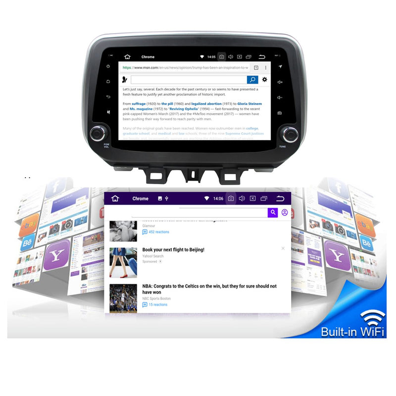 9 Inch Android 9.0 OS Car Multimedia Player for Hyundai Tucson/IX35(2018-2020), Touchscreen DSP Auto Radio Stereo GPS Navigation Bluetooth 4G WIFI, 4GB RAM+32GB ROM - foyotech