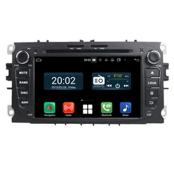 Android 10 OS 2 Din 7 inch 1024x600 Touch Screen Autoradio Headunit for Ford Mondeo/Transit Connect/S-Max/Focus 2007 2008 2009 2010, Octa Core 1.5G CPU 32G Flash 4G DDR3 RAM, Car Radio GPS Navigation 3G 4G WIFI Bluetooth USB/SD Carplay Steering Wheel Control. Double Din vehicle Multimedia Player System Head Unit.