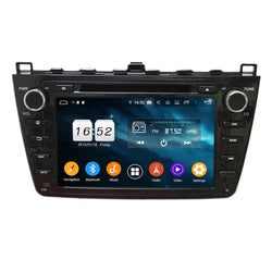 (Black) 8 inch Touchscreen Android 9.0 OS Car Radio GPS Headunit for Mazda 6 Ultra(2008-2012), Octa Core 1.5G CPU 4G DDR3 RAM 32G Flash, Auto DVD Player Stereo Bluetooth 4G WIFI OBD2 MirrorLink - foyotech
