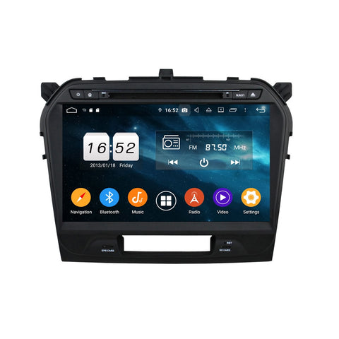 Android 9.0 OS 10.1 inch Car Radio DVD Stereo for Suzuki Vitara(2015-2020), Octa Core 1.5G CPU 4G DDR3 RAM 32G Flash, Touchscreen Auto GPS Navigation Bluetooth 4G WIFI OBDII MirrorLink Headunit - foyotech