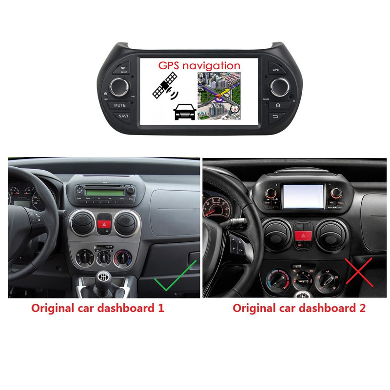 Android 9.0 OS 7 inch Car GPS Navi for Citroen Nemo(2008-2015), Octa Core 1.5G CPU 4G DDR3 RAM 32G Flash, 1 Din Auto Radio Bluetooth 4G WIFI OBDII MirrorLink - foyotech