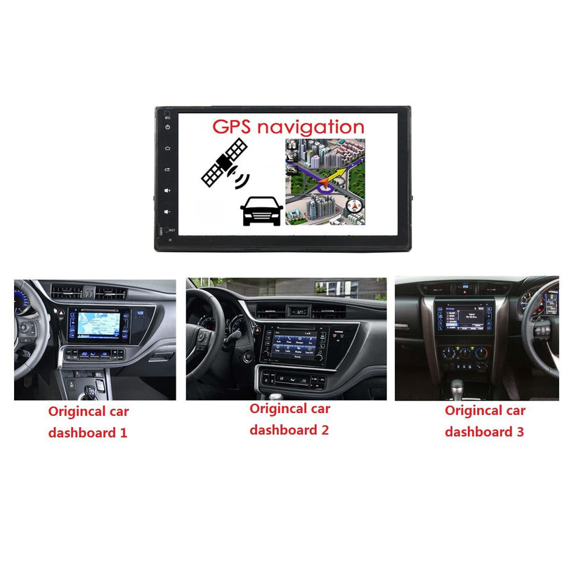 8 inch Android 9.0 OS Car Stereo GPS Navigation Headunit for Toyota Corolla/Auris/Fortuner/Innova Crysta(2016-2018), Octa Core 1.5G CPU 4G DDR3 RAM 32G Flash, Auto Radio DVD Player Bluetooth 4G WIFI OBDII MirrorLink - foyotech