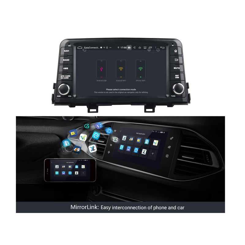 8 inch Touchscreen Android 9.0 OS Car Stereo for Kia Morning/Picanto(2017-2020), 8 Core 1.5G CPU 4G DDR3 RAM 32G Flash, Auto Radio GPS Navigation Bluetooth 4G WIFI OBDII MirrorLink Headunit - foyotech