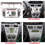7 inch Touchscreen Android 9.0 OS Car GPS Navigation Radio for Toyota Yaris Sedan Belta Vios(2006-2012), Octa Core 1.5G CPU 4G DDR3 RAM 32G Flash, Auto DVD Player Bluetooth 4G WIFI OBDII MirrorLink - foyotech