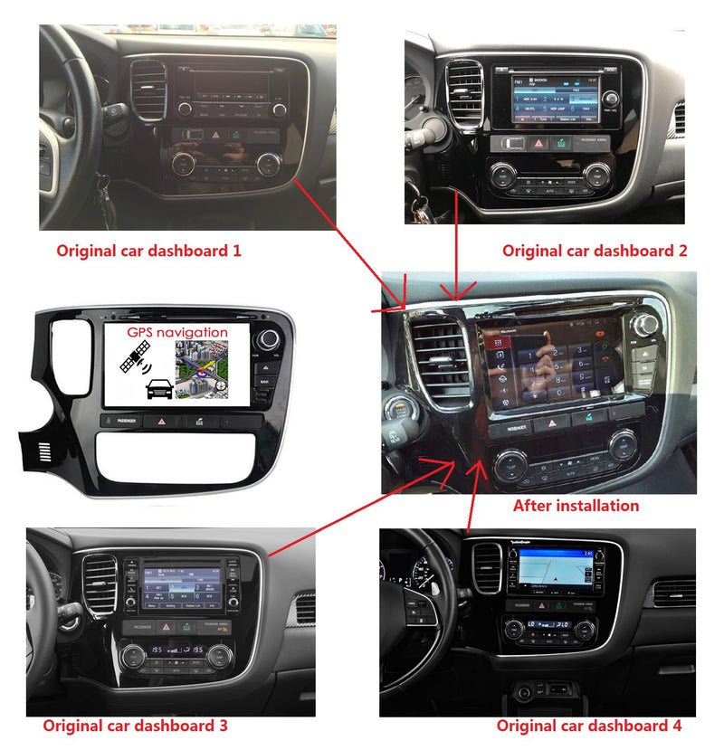 8 inch Touchscreen Android 10 OS Autoradio Stereo for Mitsubishi Outlander 2013 2014 2015 2016 2017 2018 2019 2020. Octa Core 1.5G CPU 32G Flash 4G DDR3 RAM. 2 Din Car Radio DVD Player GPS 3G 4G WIFI Bluetooth USB/SD DVD Player DSP Carplay Auto Steering Wheel Control OBDII. Plug and Play cable Double Din Vehicle Multimedia System Head Unit.