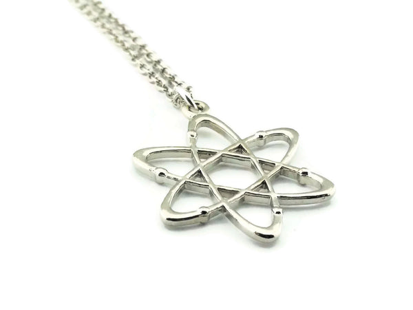 Atom Necklace, Science Jewelry