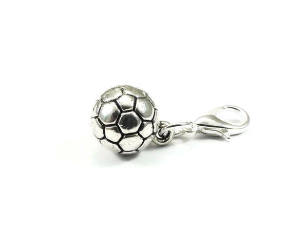 Soccer Ball Purse Charm Zipper Pull