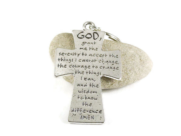 Serenity Prayer Key Chain Key Ring