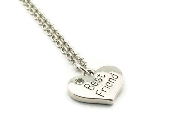 Best Friend Necklace, Heart Necklace