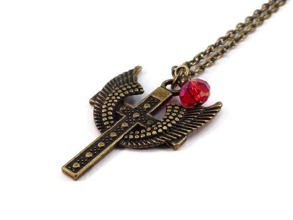 Cross with Wings Necklace