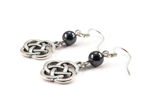 Hematite Celtic Knot Earrings