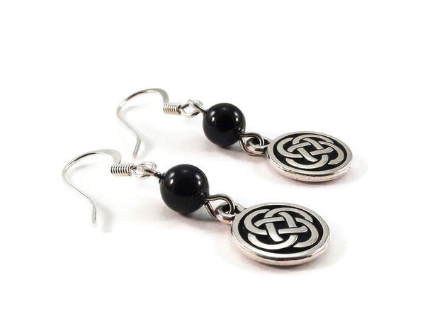 Black Celtic Knot Earrings