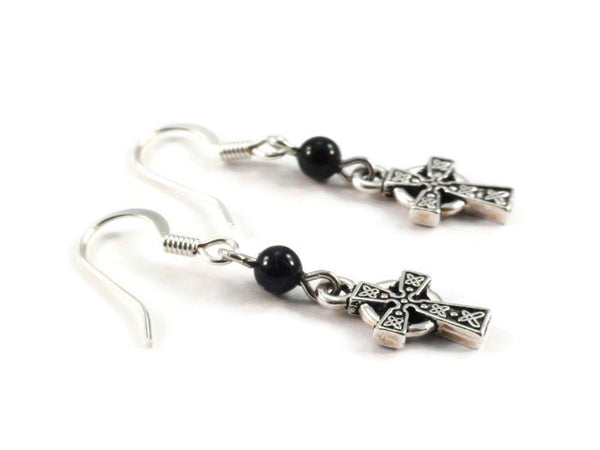 Black Onyx Celtic Knot Earrings