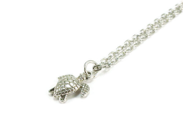 Turtle Necklace, Beach Style Necklace