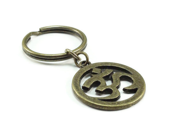Bronze Ohm Key Chain, Om Key Chain