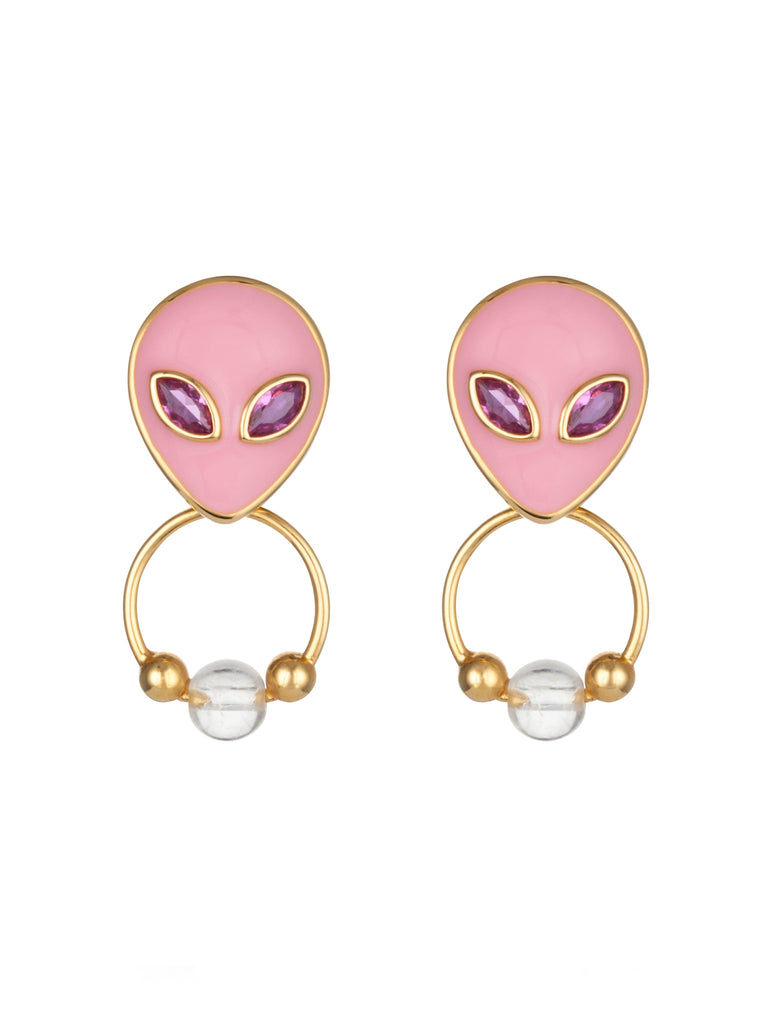 90's Alien Earrings