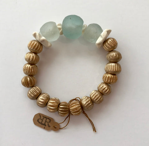 Gold and Cloud Bracelet