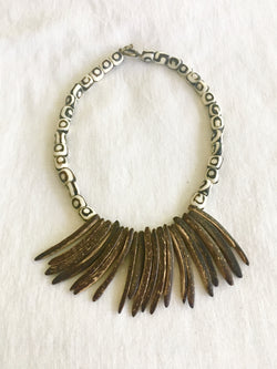 Batik Fringe Necklace