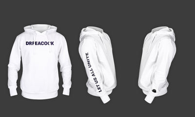 Dr. Peacock - Billie Hoodie (White/Black)