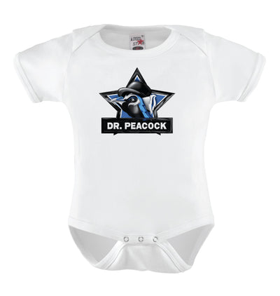 Peacock Babies' Short Sleeve Bodysuit
