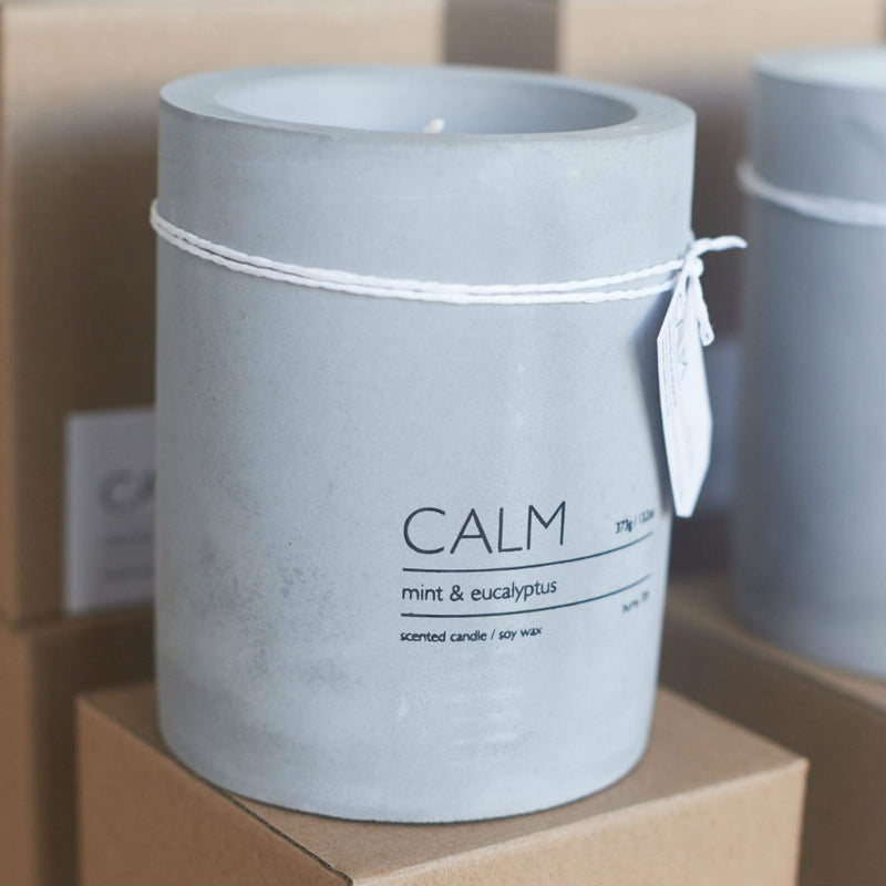 Calm Concrete Candles