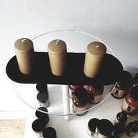 Candle Trio + Tray