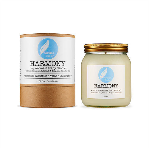 Harmony from Corinne Taylor ~ rose geranium, patchouli, tangerine