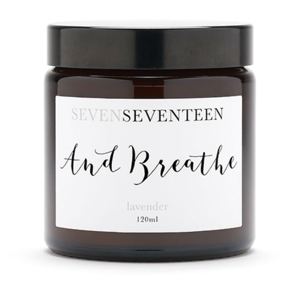 Seven Seventeen candle ~ And Breathe ~ lavender