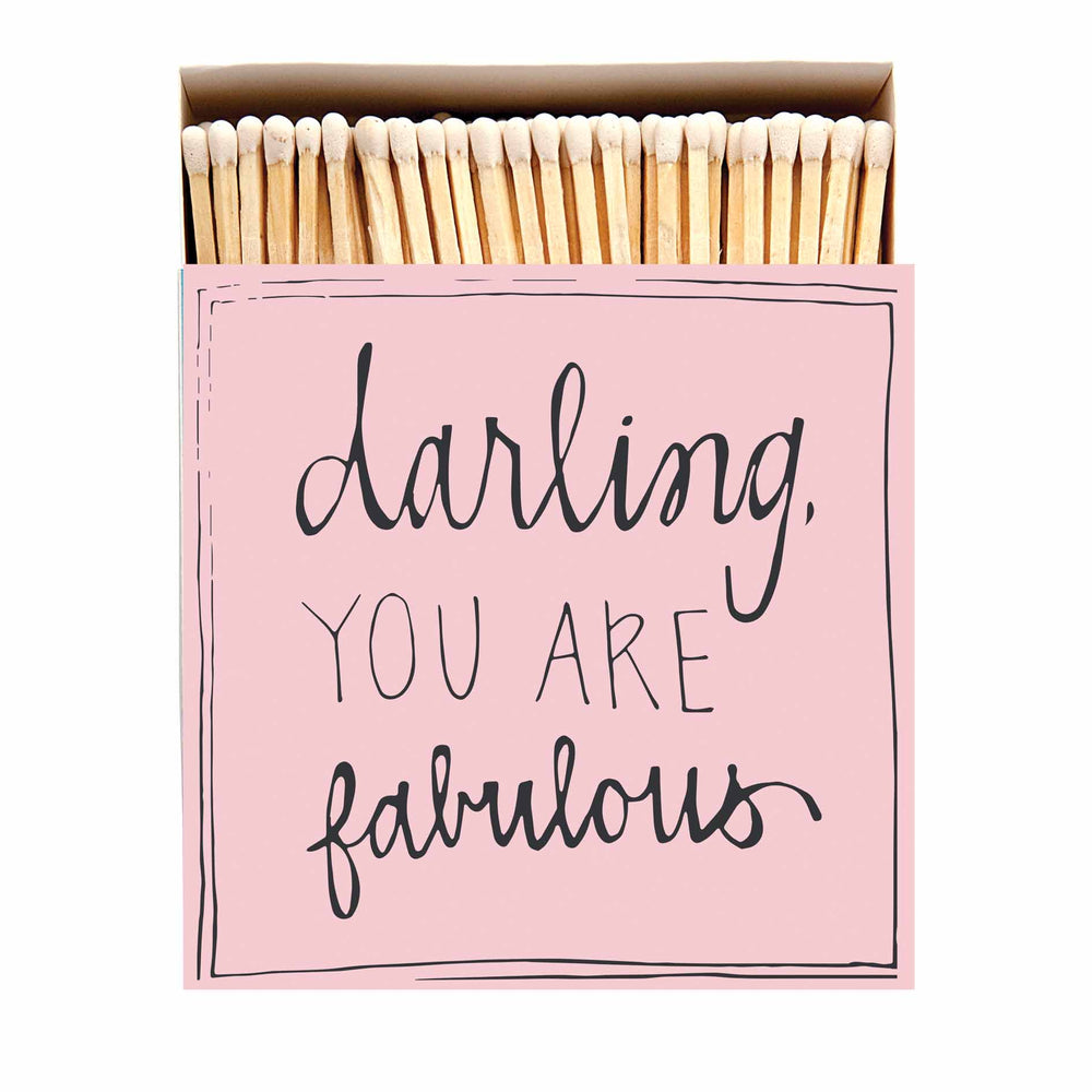 Luxury Oversized Matches ~ Darling You Are Fabulous