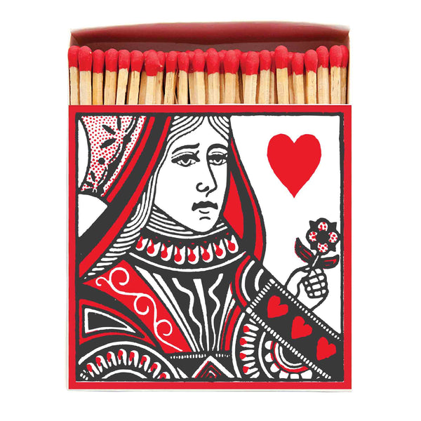 Luxury Oversized Matches ~ Queen of Hearts