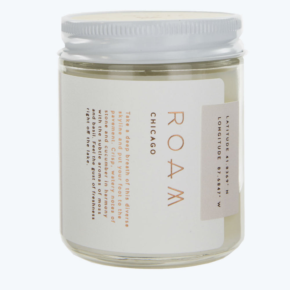 Roam by 42 Pressed candle ~ Chicago ~ cucumber, basil, wet stone, moss