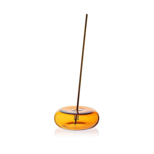 Amber Pebble incense holder