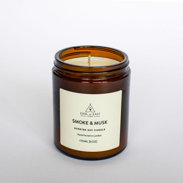 Smoke & Musk Scented Candle from Earl of East London at Wick Candle Boutique