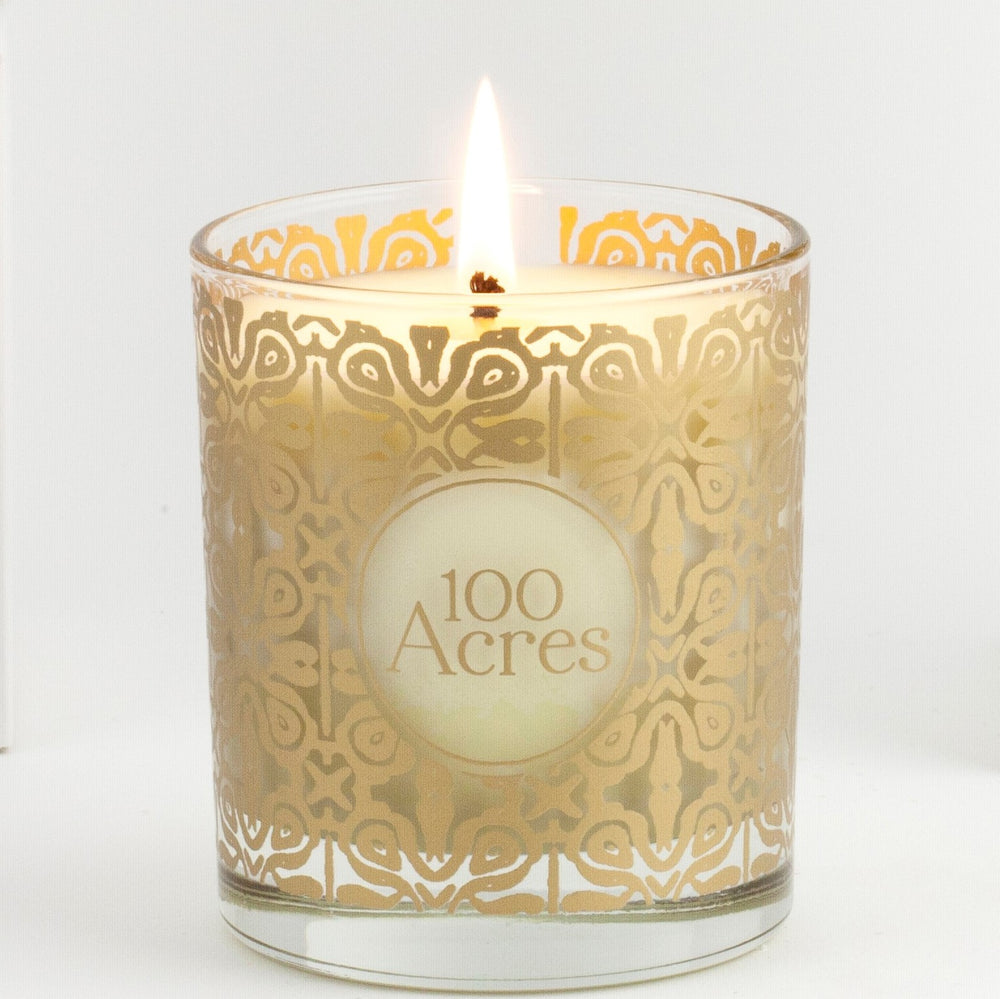 100 Acres Apothecary Winter Scented Candle ~ sweet orange, cinnamon, clove