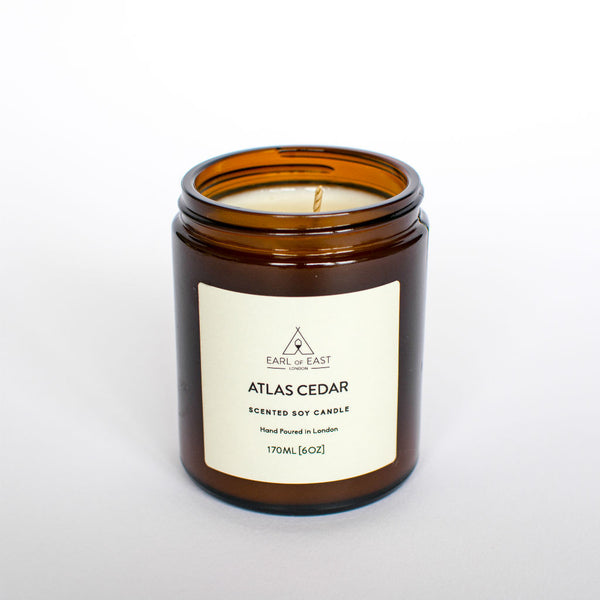 Atlas Cedar Scented Candle from Earl of East London at Wick Candle Boutique