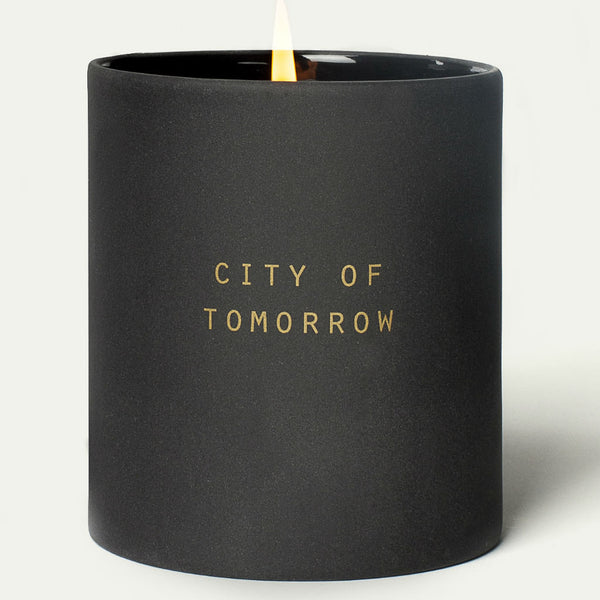 School of Life ~ Utopia Candle ~ City of Tomorrow ~ freshly cut grass, green pear, rose, lily, jasmine, balsam
