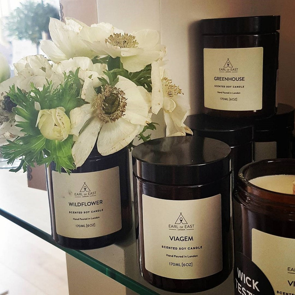 Scented Candles from Earl of East London at Wick Candle Boutique