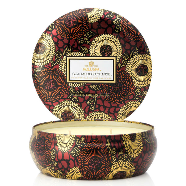 Voluspa candle ~ Goji Tarocco Orange ~ triple wick ~ goji berry, ripe mango, tarocco orange