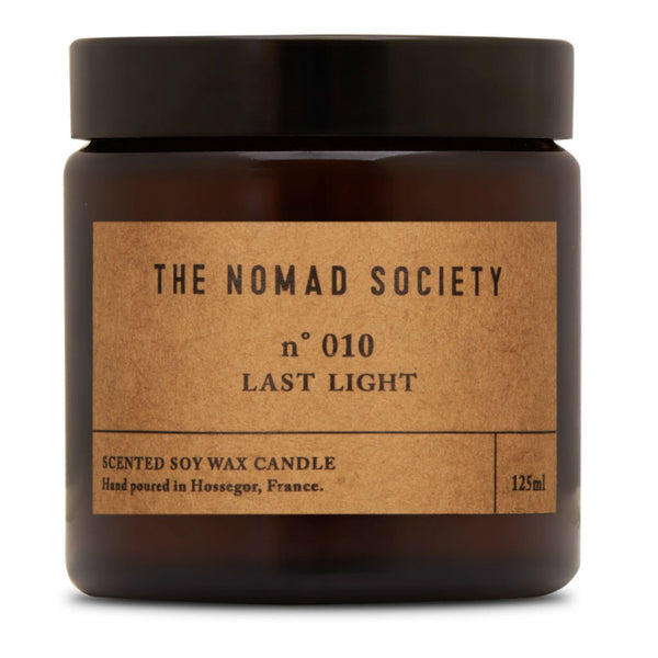 Nomad Society candle ~ Last Light ~ amber wood, moss