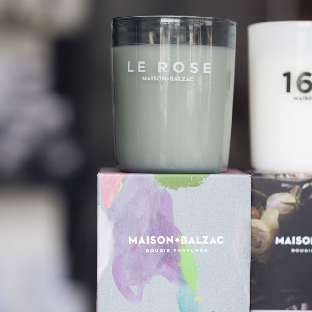 Maison Balzac Candle ~ Le Rose ~ rose petals, thyme leaves, cedarwood ~ double wick candle