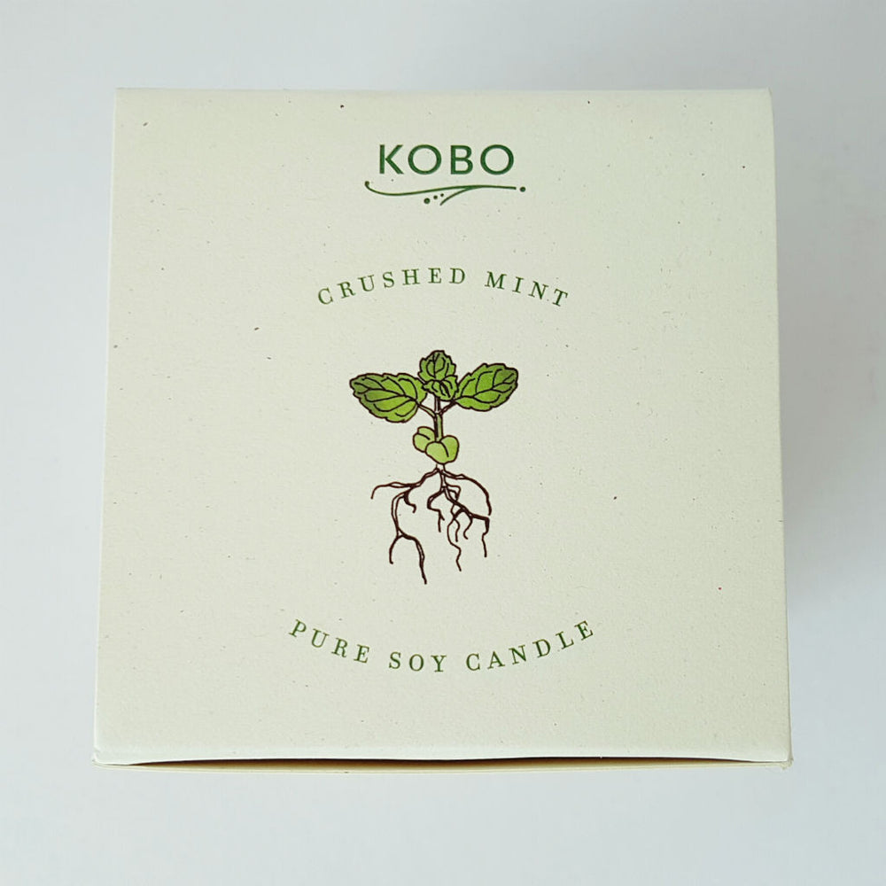 Kobo candle - Crushed Mint ~ spearmint, peppermint, cedarwood