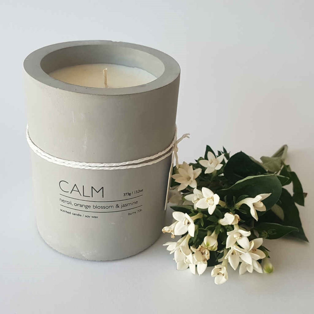 Neroli, Orange Blossom & Jasmine ~ CALM concrete candle