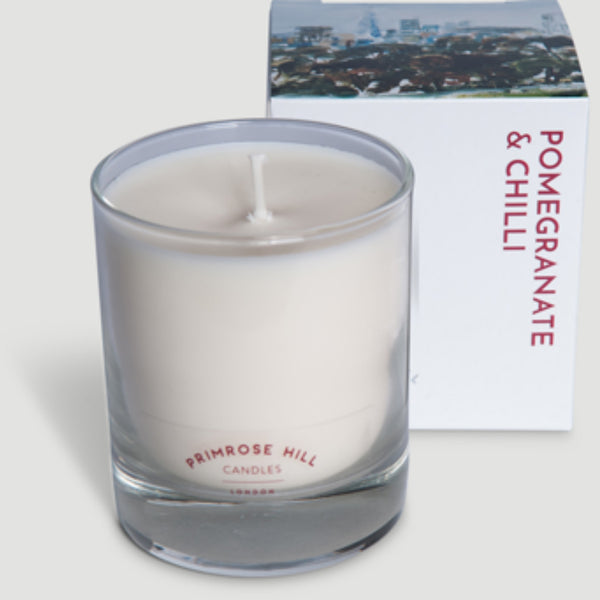 Pomegranate & Chilli from Primrose Hill Candles ~ pomegranate, chilli peppers, cedar wood, leather, amber