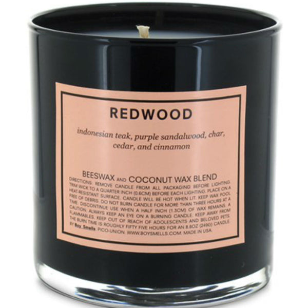 Boy Smells candle ~ Redwood ~ indonesian teak, purple sandalwood, char, cedar, cinnamon