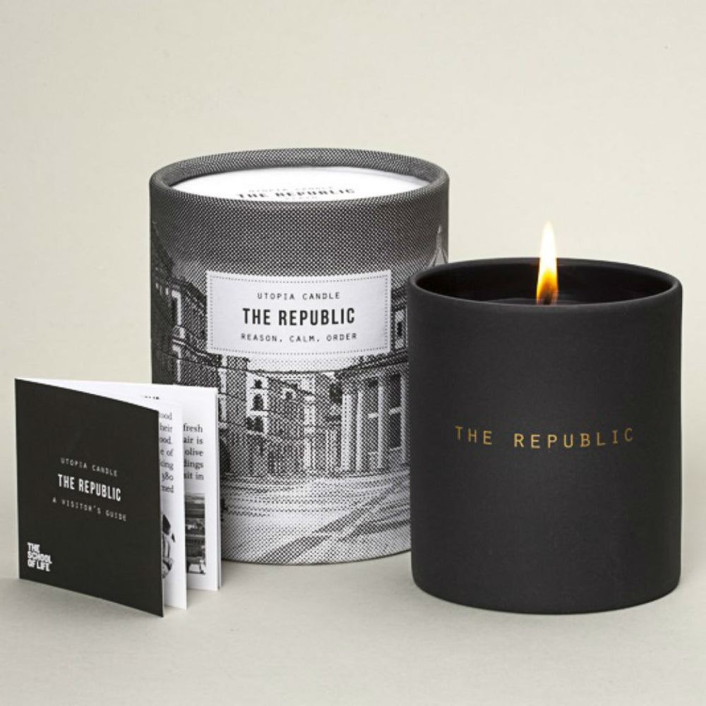 Republic scented candle ~ bergamot, mandarin, nutmeg, black pepper, cardamom, cumin, vetivert