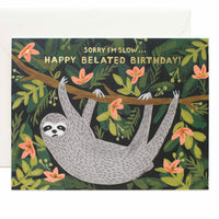 Belated Birthday Sloth