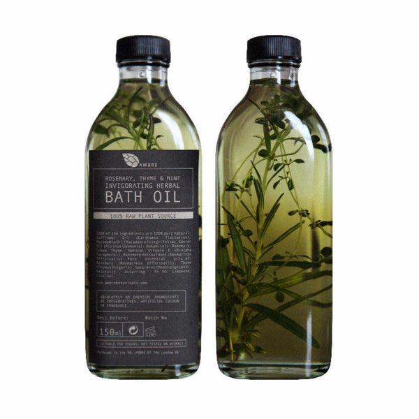 Ambre Botanicals ~ Rosemary, thyme and mint invigorating herbal bath oil